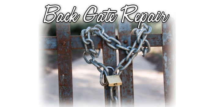 Back Gate Repair